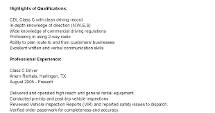 Truck Driver Resume Example by Truck Driver Resume Sample And Tips Resume Genius Bus Driver