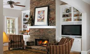 stacked stone tile fireplace surround simple natural stacked