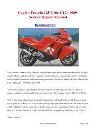1989 cagiva freccia 125 c10r c12r service repair manual pdf