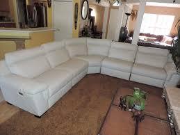 natuzzi julius 5pc triple electric reclining optic white leather