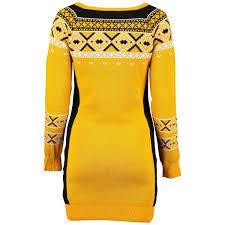 yellow sweater dress pittsburgh steelers s gold big logo sweater dress