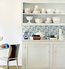 wallpaper backsplash in kitchen design charming interior home