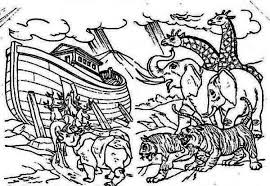 flood coloring pages noahs ark packed with all the animals colouring page noahs ark