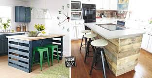 ilot de cuisine make a kitchen in pallets island here are 15 ideas to inspire you