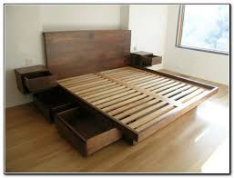 How To Build A Bed Frame With Storage Diy Bed Frame With Storage Drawers Bed Frame Storage Drawers 3