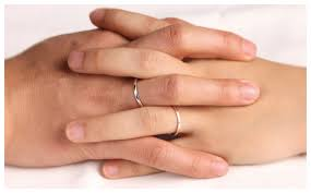 thin wedding bands his and hers handmade couples thin wedding ring bands set in