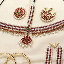 bridal indian necklace set images 10 pcs beautiful kemp stone imitation south indian temeple bridal jpg