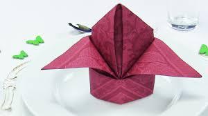 how to make table napkins napkin folding bishop s hat or lily easy napkins folding tutorial
