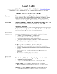 Sample Resume Objectives For Hotel And Restaurant Management by Construction Project Manager Resume Sample Resume For Your Job