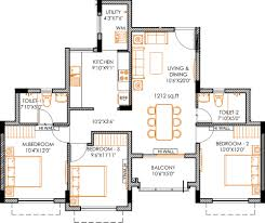 1212 sq ft 3 bhk floor plan image xs real barcelona available