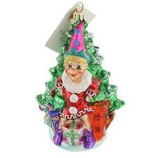 christopher radko santa ornaments ebay