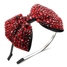 headband with bow drill diamante bow headband rhinestone hair accessories