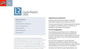 lloyd u0027s register audit letter sustainability report 2015