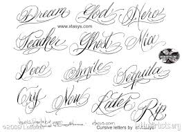 cursive tattoo lettering styles pictures to pin on pinterest