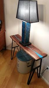 live edge table with turquoise inlay hand made live edge walnut slab table with turquoise inlay by texas