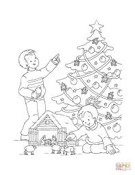 decoration balls for christmas tree coloring page free printable