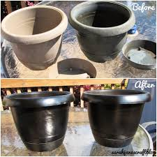 sarah jane u0027s craft blog spray painted plastic flower pot refresh