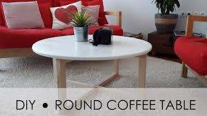cheap round coffee table diy round coffee table easy simple youtube