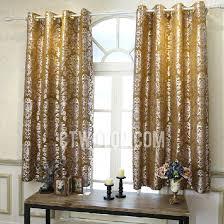 Short Curtains Polyester Room Darkening Pattern Living Room Short Window Curtains