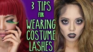 Glow In The Dark Eyelashes How To Apply Halloween And Costume False Eyelashes Youtube