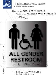 all gender bathroom braille ada signs adasigndepot com