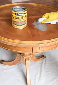how to use minwax gel stain on kitchen cabinets refinishing a table how i brought my beat up end table back