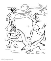 keep the beaches in cleanliness coloring pages for kids
