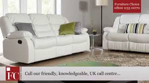 ivory leather reclining sofa sorrento ivory leather recliner sofa by furniture choice youtube