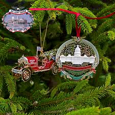 2016 white house and us capitol ornament set