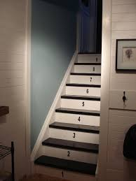 white wood creating an open staircase