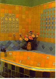 Mexican Tile Bathroom Designs Decorating With Mexican Talavera Tile Tub Tile Ceramic Design