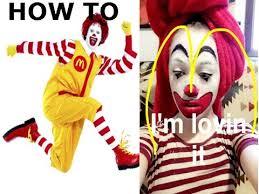 Ronald Mcdonald Halloween Costume Ronald Mcdonald Makeup Tutorial