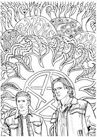 supernatural coloring book u2014 color your own castiel u2013 fangirl quest