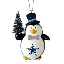 nfl penguin with tree ornament dallas cowboys