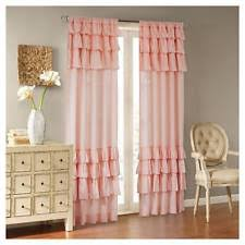 Ruffled Curtains Pink Ruffled Curtains Ebay