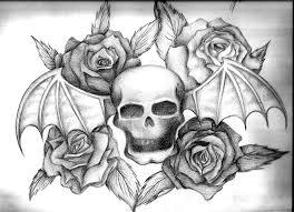 avenged sevenfold skull with roses by artist400 on deviantart