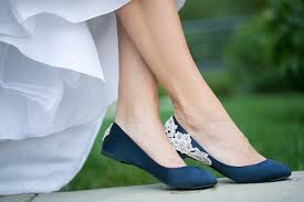 wedding shoes navy blue wedding shoes navy blue bridal ballet flats low wedding