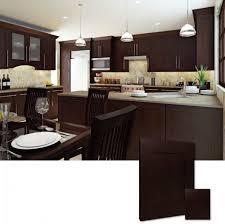 Espresso Kitchen Cabinets Cabinets U0026 Drawer Modern Espresso Kitchen Cabinets White Marble