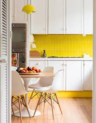backsplash for yellow kitchen white kitchen yellow backsplash interior design