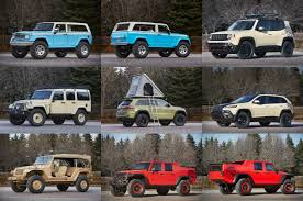 jeep lineup 2016 jeep reveals full concept lineup for 2015 easter jeep safari jk