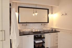 Bathroom Vanity Backsplash by White Glass Tile Backsplash Contemporary Bathroom Jenny Baines