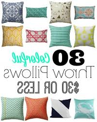 30 Colorful Throw Pillows For 30 Dollars Less charming Best