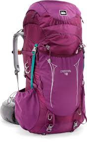 colorful backpacking pack rei crestrail 48 pack women u0027s pct tips