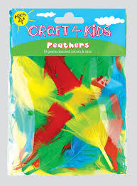 4 kids feathers sold as a pack of 12