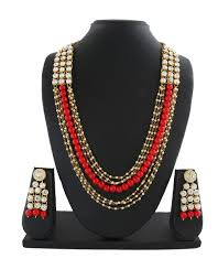 long red necklace images Buy stone beaded for jewellery long red necklace beads set online jpeg