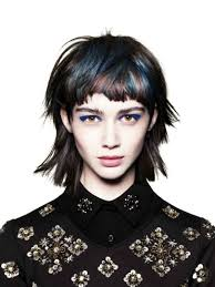 how to style 80 s hair medium length hair the bronte working with a strong textured fringe with longer