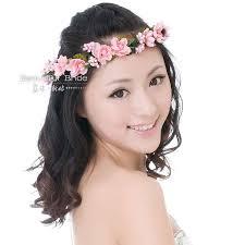 flower hair bands wedding flower girl hair bands pink wedding flower hair