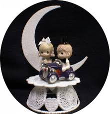 w cake topper classic car w precious moments figurines wedding cake topper hot