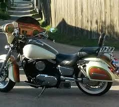 orange copper candy pearl on motorcycle paint with pearl