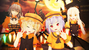 happy halloween artwork 東方mmd happy halloween youtube